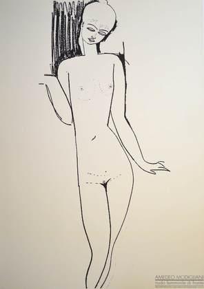 Amadeo Modigliani Nudo feminile di fronte