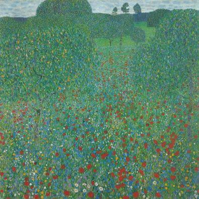 Gustav Klimt Mohnwiese   1907