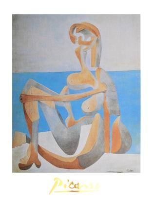 Pablo Picasso Baigneuse assise au bord de la mer
