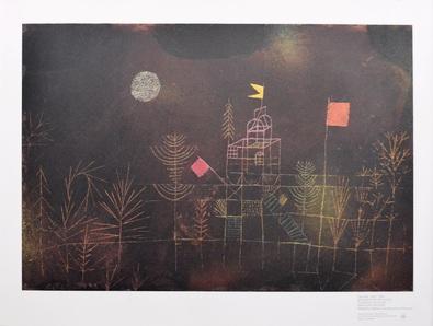 Paul Klee Beflaggter Pavillon