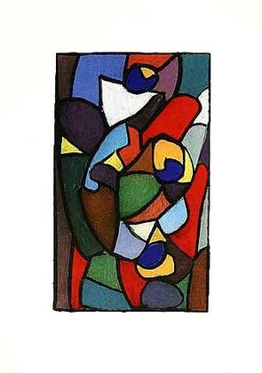 Adolf Hoelzel Entwurf fuer ein Glasfenster