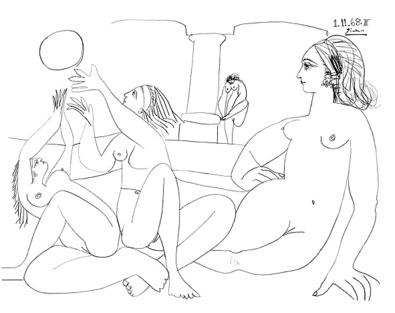 Pablo Picasso Das tuerkische Bad