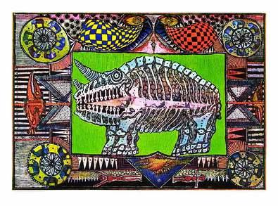 Joerg Schulthess Der Traum vom Nashorn (64x45cm)