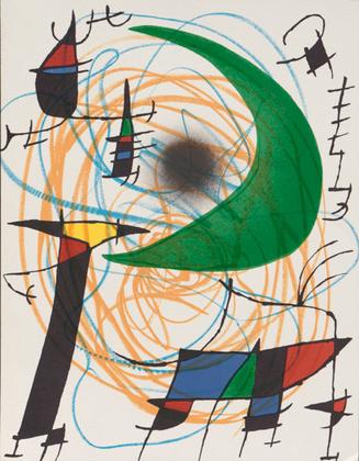 Joan Miro Volume 1 Blatt 5 (Mond)