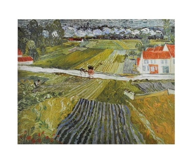 Vincent  van Gogh Dorfstrasse in Auvers